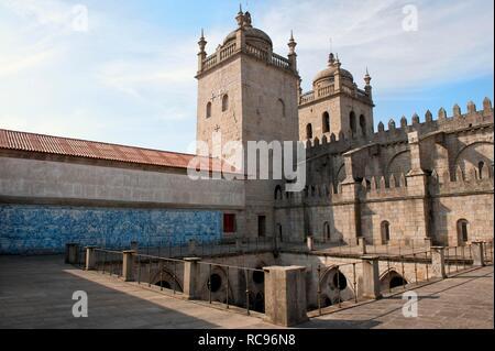Da Sé Cathedral, Barredo district, Porto, Unesco World Heritage Site, Portugal, Europe - Stock Photo
