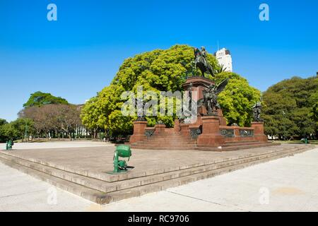 General San Martin Monument, Plaza General San Martin, Buenos Aires, Argentina, South America - Stock Photo