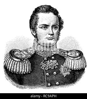 Friedrich Wilhelm IV, Frederick William IV of Prussia, 1795-1861, King of Prussia, historic woodcut, c. 1880 - Stock Photo