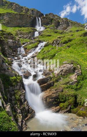 Nassfeld waterfall in the Hohe Tauern National Park, Carinthia / Kärnten, Austria - Stock Photo