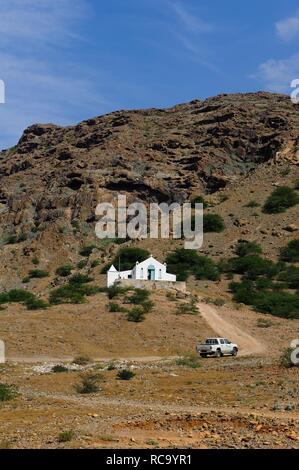 Church of Nossa Senhora da Conceicao in Povoacao Velha, Boa Vista, Cape Verde, Africa - Stock Photo