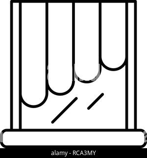 Decoration louvers icon, outline style - Stock Photo