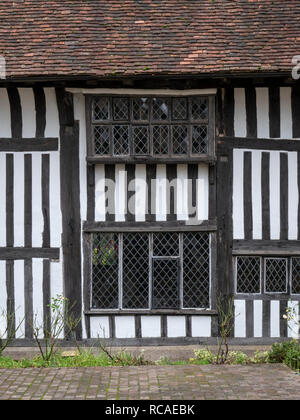 Close up of an old timber framed house and buidling in Battle East Sussex UK - Stock Photo