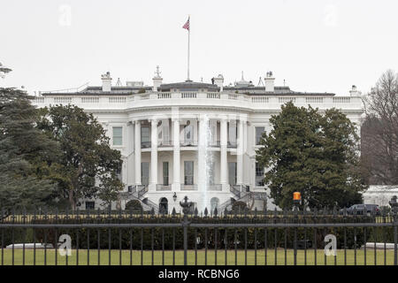 Washington, District of Columbia, USA. 12th Jan, 2019. The White House is seen in Washington, DC on January 12, 2019. Credit: Alex Edelman/ZUMA Wire/Alamy Live News - Stock Photo