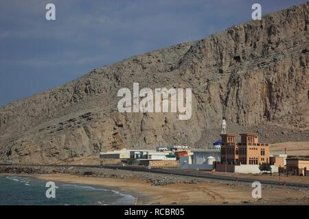 Port of Bukha, in the Omani enclave of Musandam, Oman, Arabian Peninsula, Middle East, Asia - Stock Photo