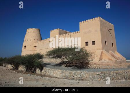 Bukha Fort, Bukha, in the Omani enclave of Musandam, Oman, Arabian Peninsula, Middle East, Asia - Stock Photo