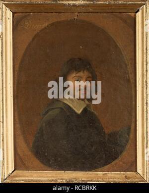 Portrait of the philosopher René Descartes (1596-1650). Museum: PRIVATE COLLECTION. Author: ANONYMOUS. - Stock Photo