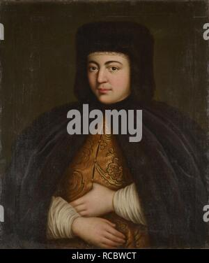 Portrait of the Tsarina Natalia Naryshkina (1651-1694). Museum: State Museum of Architecture, History and Art, Vladimir. Author: ANONYMOUS. - Stock Photo