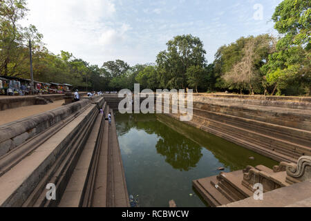 Twin Ponds in Sacred City of Anuradhapura, Sri Lanka - Stock Photo