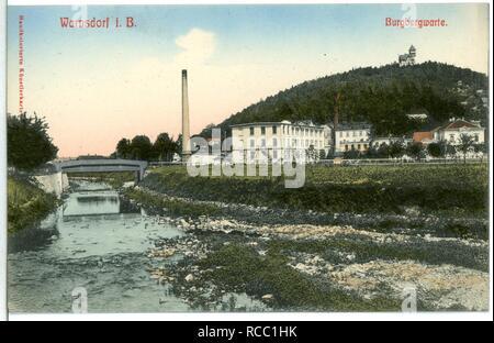 11202-Warnsdorf-1910-Burgbergwarte- - Stock Photo