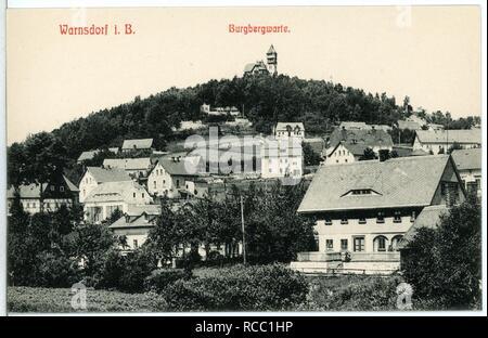 11205-Warnsdorf-1910-Burgbergwarte- - Stock Photo