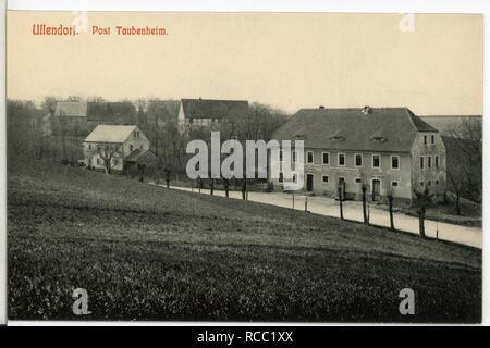 11908-Ullendorf-1910-Blick auf Ullendorf, Gasthof- - Stock Photo