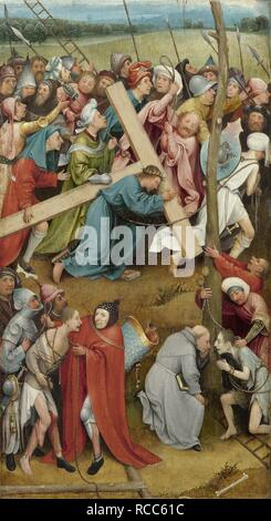 Christ Carrying the Cross. Museum: Art History Museum, Vienne. Author: BOSCH, HIERONYMUS. - Stock Photo