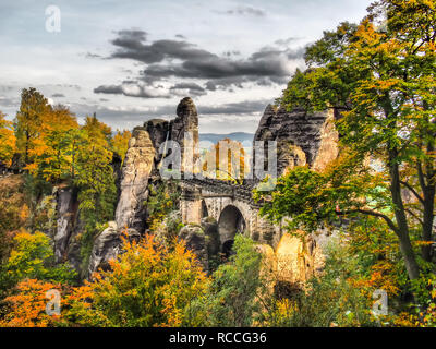 Bastion in autumn,Germany - Stock Photo