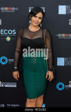 Los Angeles, USA. 06th June, 2018. Vassy arrives at Los Angeles Greek Film Festival 2018 in Egyptian Theatre on June 6, 2018. - Stock Photo
