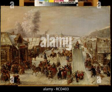 Shrovetide. Museum: Regional W. Wereshchagin Art Museum, Mykolaiv. Author: ANONYMOUS. - Stock Photo