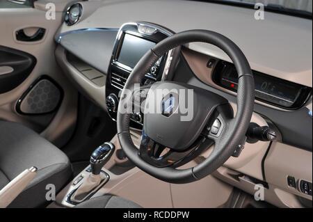 2013 Renault Zoe compact electric car (EV) - Stock Photo