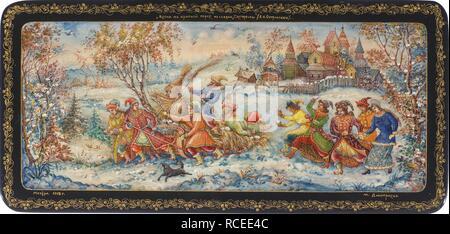 The Krasnaya Gorka celebration (Red Hill Holiday). Museum: State Museum of Architecture, History and Art, Vladimir. Author: Dmitrieva (Petrova), Maria Kuzminichna. - Stock Photo