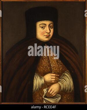 Portrait of the Tsarina Natalia Naryshkina (1651-1694), wife of tsar Alexis I of Russia. Museum: State History Museum, Moscow. Author: ANONYMOUS. - Stock Photo