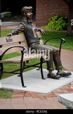 Archie cartoon character sculpture in Meredith New Hampshire - Stock Photo