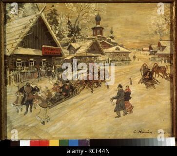 Russia. A country celebration. Museum: State Tretyakov Gallery, Moscow. Author: Korovin, Konstantin Alexeyevich. - Stock Photo