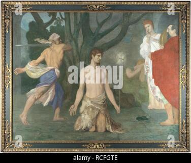The Beheading of Saint John the Baptist. Museum: National Gallery, London. Author: Puvis de Chavannes, Pierre Cécil. - Stock Photo
