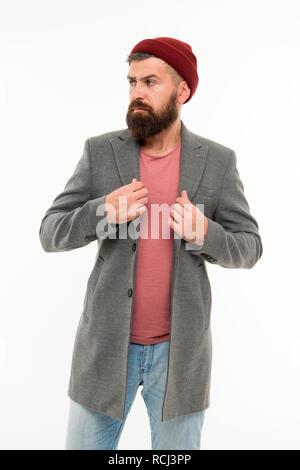 Winter Stylish Menswear Man Bearded Stand Warm Camouflage Pattern