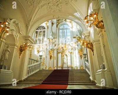 Interior of Hermitage Museum, St Petersburg Russia - Stock Photo