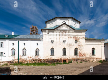 SOLOVKI, REPUBLIC OF KARELIA, RUSSIA - JUNE 27, 2018: View of the church of Philip In the Spaso-Preobrazhensky Solovetsky Monastery. Russia, Arkhangel - Stock Photo