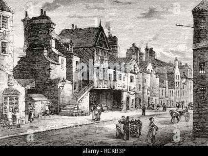 Mahogany Land in Potterow, 1821, Edinburgh, Scotland - Stock Photo