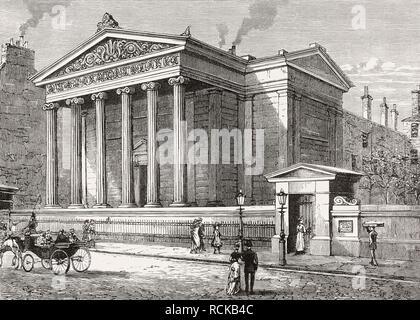 Surgeons' Hall, Edinburgh, Scotland, 19th century - Stock Photo