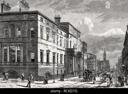 The University, Edinburgh, Scotland, 19th century - Stock Photo