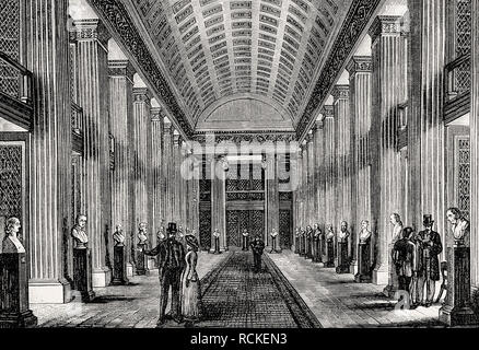 The Library Hall, University, Edinburgh, Scotland, 19th century, - Stock Photo