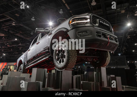 Detroit, Michigan - The 2019 Ram Power Wagon on display at the North American International Auto Show. - Stock Photo