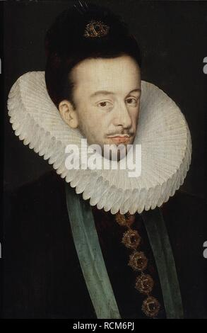 Portrait of Henry III of France, King of Poland and Grand Duke of Lithuania. Museum: Muzeum Narodowe, Warsaw. Author: Quesnel, Francois. - Stock Photo