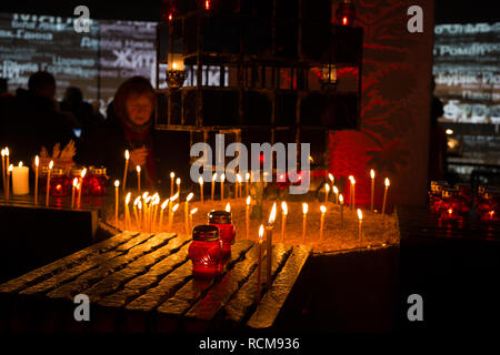 Ceremony of honoring the memory of victims of famines in Ukraine, inside the National Museum Memorial to the victims of famines in Ukraine , in Kiev, on Saturday, November 24, 2018 - Stock Photo
