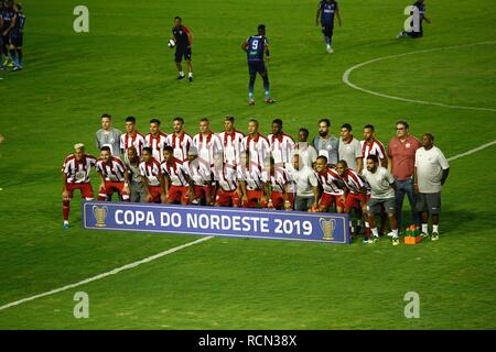 PE - Recife - 15/01/2019 - Northeast Cup 2019 / Nautico x Fortaleza - game between Nautico and Fortaleza, valid for the 2019 Northeast Cup, match held at the stadium of the Aflitos, in Recife, this Tuesday (15) Foto : Paulo Paiva / AGIF - Stock Photo