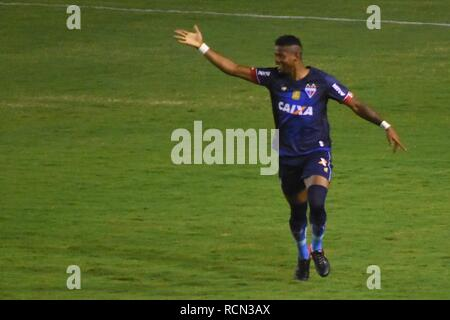 PE - Recife - 01/15/2019 - Northeast Cup 2019 / Nautico x Fortaleza - Fortaleza player celebrates his goal during a match against Nautico at the Aflitos stadium for the 2019 Northeast Cup championship. Photo: Paulo Paiva / AGIF - Stock Photo