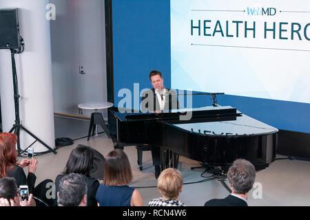 New York, United States. 15th Jan, 2019. New York, NY - January 15, 2019: Rufus Wainwright performs at WebMD Health Hero Awards ceremony at WebMD Corporate Headquarter Credit: lev radin/Alamy Live News - Stock Photo