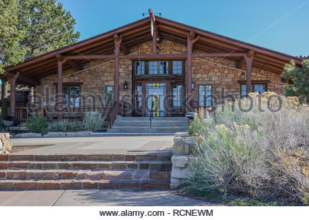 The Bright Angel Lodge at Grand Canyon National Park, Arizona, USA - Stock Photo
