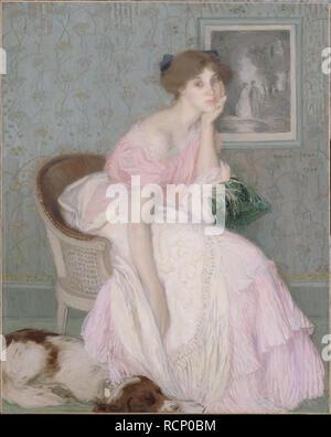 Miss Ella Carmichael. Museum: Petit Palais, Musée des Beaux-Arts de la Ville de Paris. Author: Aman-Jean, Edmond François. - Stock Photo