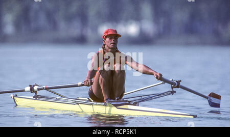Barcelona Olympics 1992 - Lake Banyoles, SPAIN,  NED W1X, Irene  EIJS, © Peter Spurrier/Intersport-Images - Stock Photo
