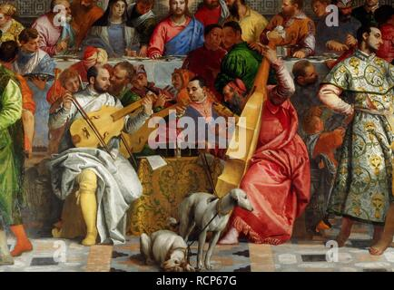The Wedding Feast at Cana (Detail). Museum: Musee du Louvre, Paris. Author: VERONESE, PAOLO. - Stock Photo
