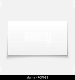 Blank white billboard or banner with shadow. Vector illustration. Empty post note isolated - Stock Photo