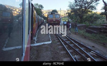 Shimla railway, Kandaghat junction. - Stock Photo