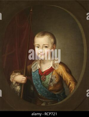 Portrait of Grand Duke Alexander Pavlovich (Alexander I) as Child. Museum: PRIVATE COLLECTION. Author: Levitsky, Dmitri Grigorievich. - Stock Photo