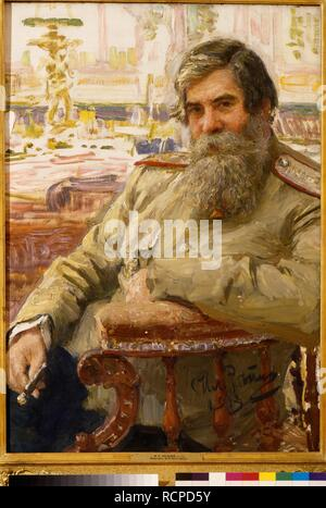 Portrait of the neurophysiologist and psychiatrist Vladimir Bekhterev (1857-1927). Museum: State Russian Museum, St. Petersburg. Author: REPIN, ILYA YEFIMOVICH. - Stock Photo