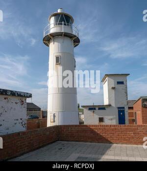 The Heugh Lighthouse, Headland, Hartlepool, County Durham, England, UK - Stock Photo