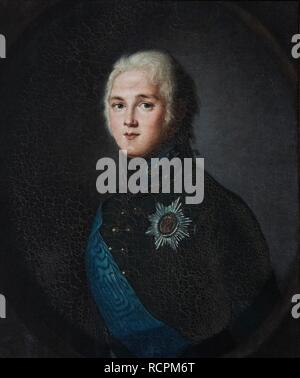 Portrait of Grand Duke Alexander Pavlovich (1777-1825). Museum: State Museum Arkhangelskoye Estate, Moscow. Author: ANONYMOUS. - Stock Photo