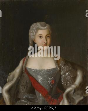 Portrait of Princess Anna Leopoldovna (1718-1746), tsar's Ivan VI mother. Museum: State Museum of Architecture, History and Art, Vladimir. Author: ANONYMOUS. - Stock Photo